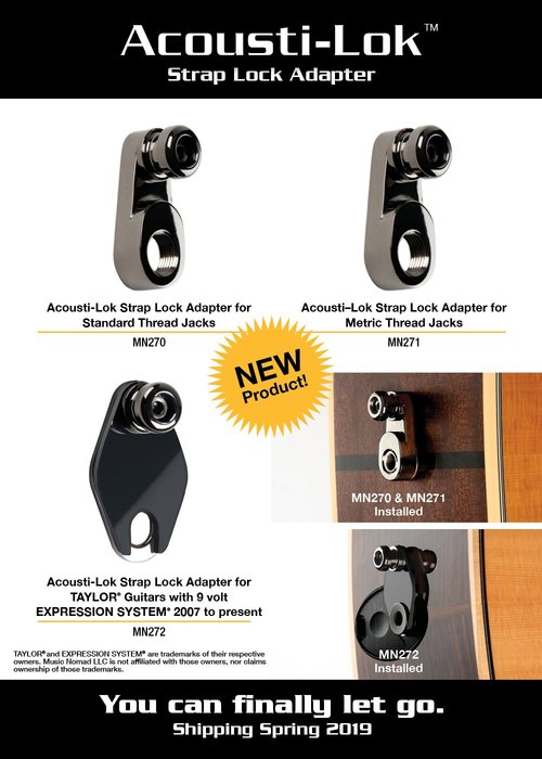 KARMA Giveaway: Acousti-Lok Strap Lock Adapter by MusicNomad for